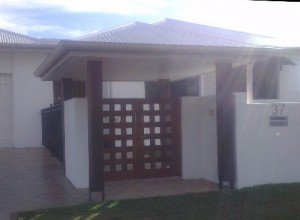 Wooden gate locks