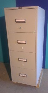 CHUBB SAFES 2 HOUR FIRE SAFE/ 4 DRAWER FIRE RESISTANT (NOT FIREPROOF) FILING CABINET