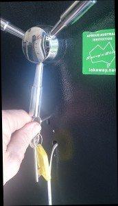 lokaway gun safe key lock override