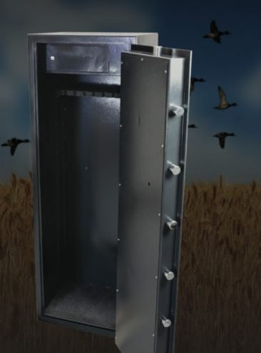 This gun safe has a 6mm door and weighs 152kg